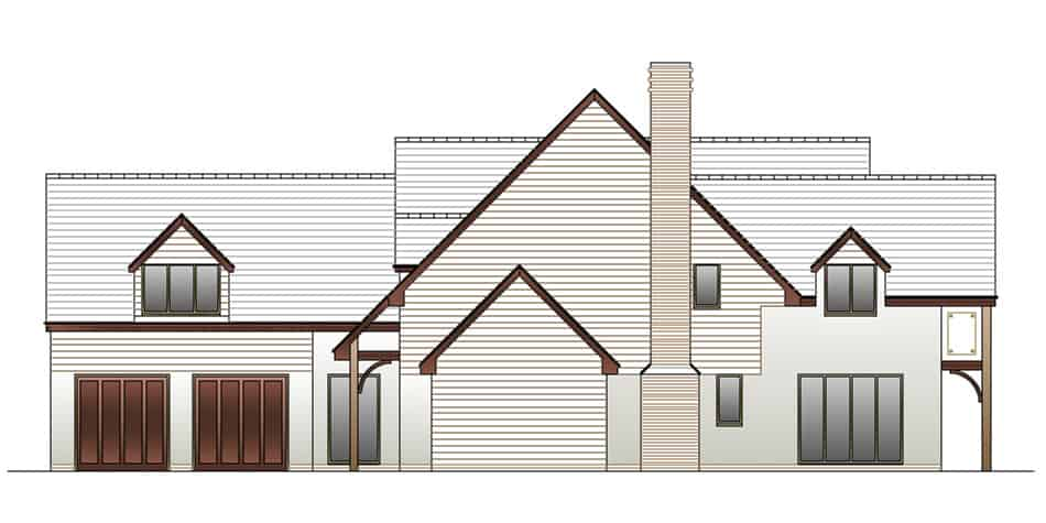 Timber Frame House Kit 13 Side Elevation