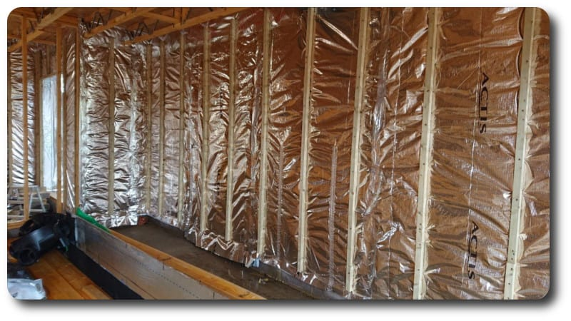 Hybris Insulation on Inside of Timber Frame Wall