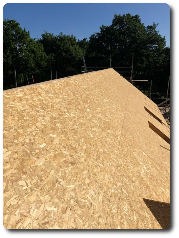 Roof with OSB Weatherboard