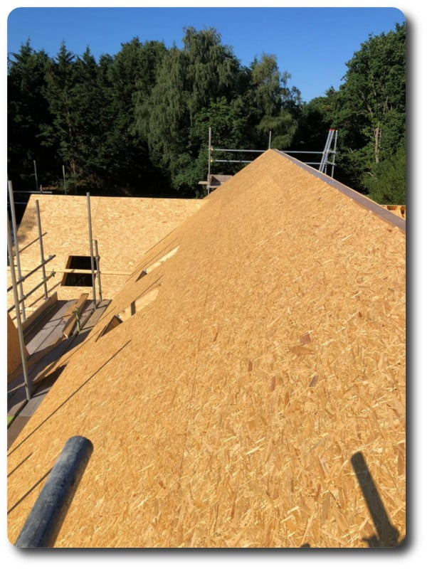 Roof With OFB to Support Zinc Roof