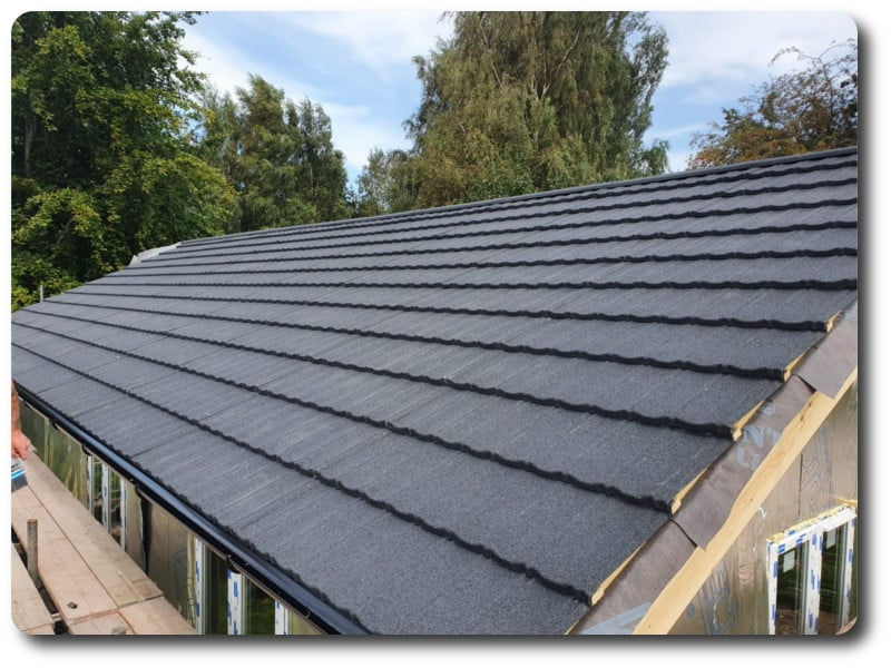 A Traditional Tiled Look to the Modular Classroom Roof