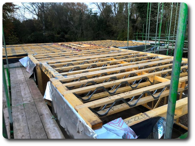 Posi Joist solution for the first floor to allow easy access for trades