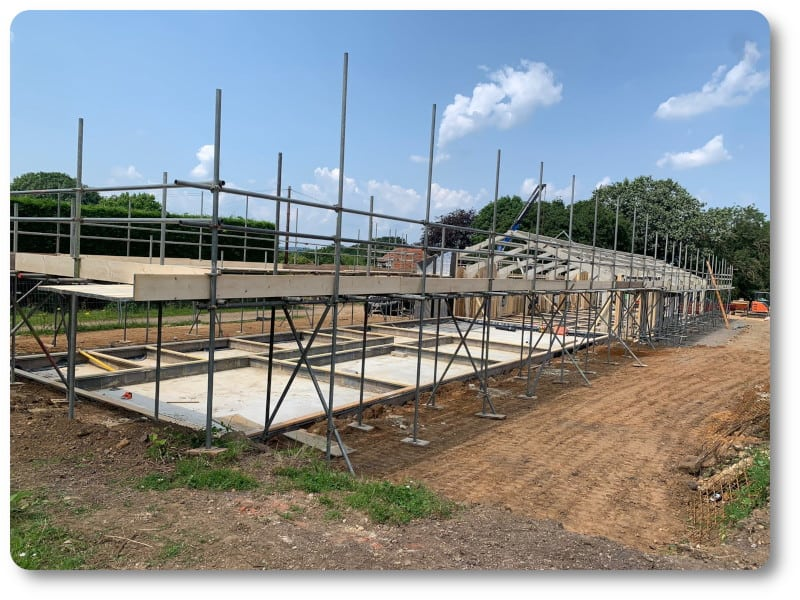 Scaffolding Erected for Panels